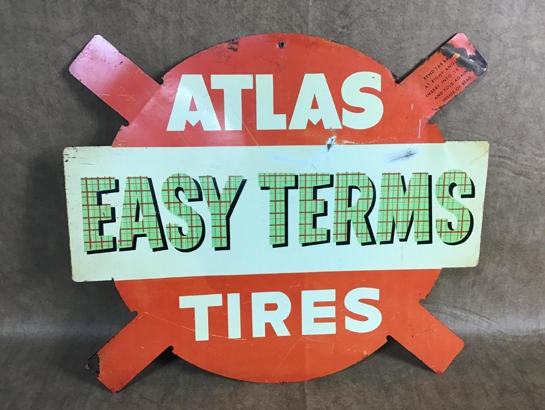 Atlas Tires Painted Metal Sign