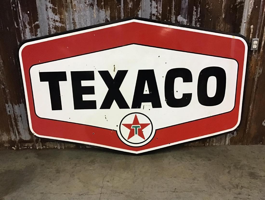 Porcelain Double Sided Texaco Diamond Dealer Sign