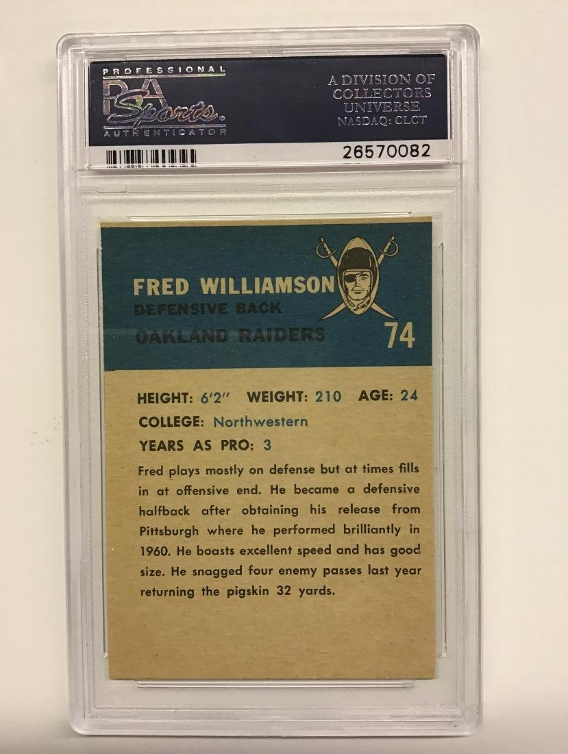 1962 Fleer #74 Fred Williamson EXMT 6 - 2
