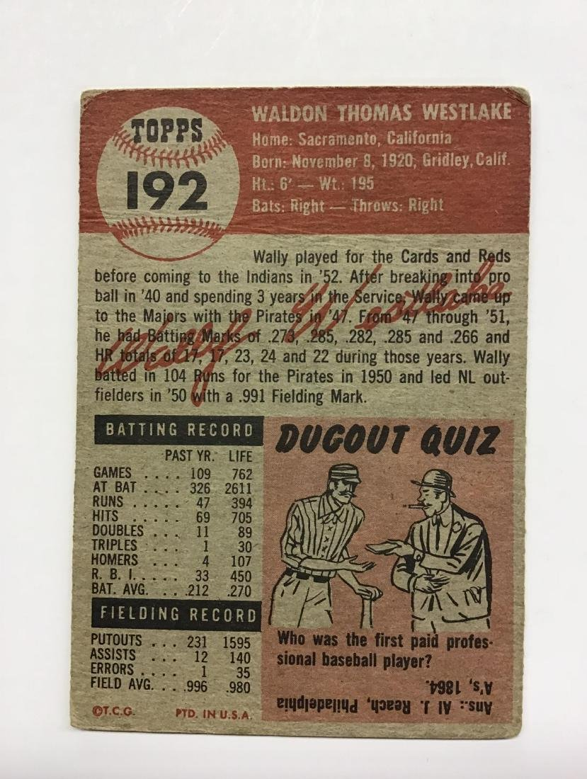Wally Westlake #192 - 2