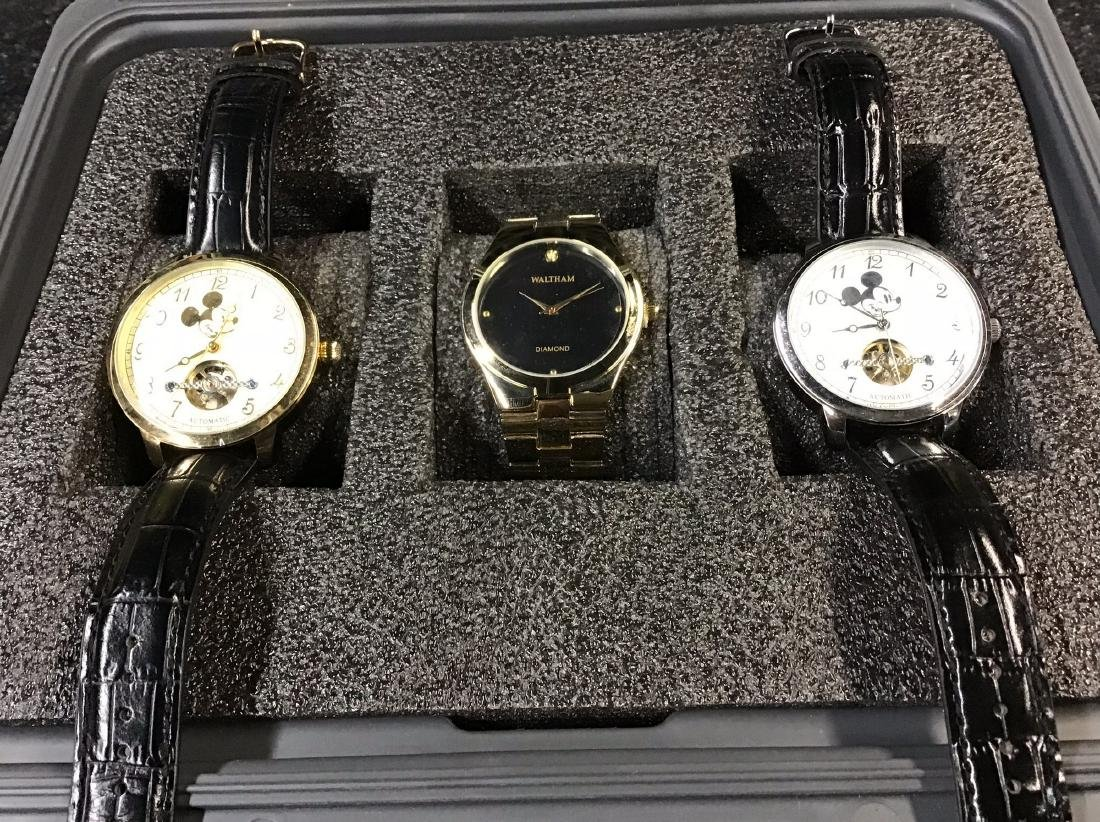 Lot of 3 Elgin and Waltham Watches- Perpetual Movement