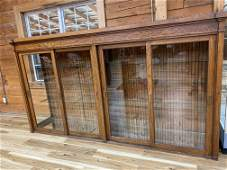 LARGE EARLY 1900'S OAK GENERAL STORE DISPLAY CASE