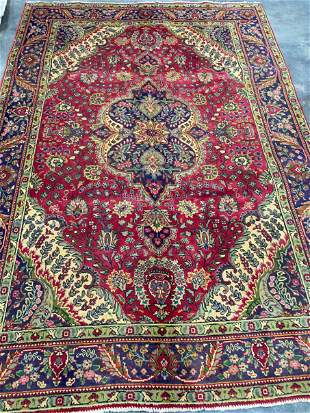 TABRIZ HAND KNOTTED PERSIAN WOOL RUG