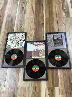 Lot of 3 Led Zepplin Vinyl Record Albums