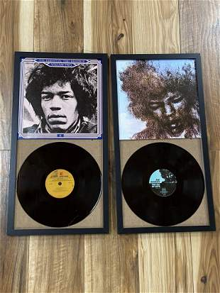 Lot of 2 Jimi Hendrix Vinyl Record Albums