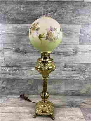HAND PAINTED BALL SHADE BANQUET LAMP