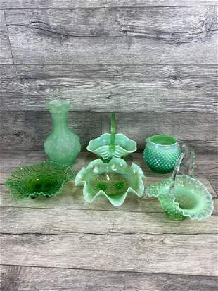 6 PIECE GLASS LOT