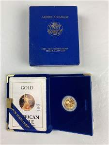 1990-ONE-TENTH OUNCE  AMERICAN EAGLE GOLD COIN