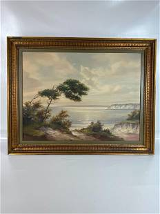 EARLY 20TH C. SIGNED OIL ON CANVAS