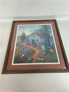 PENCIL SIGNED QUEENA STOVAL FRAMED PRINT