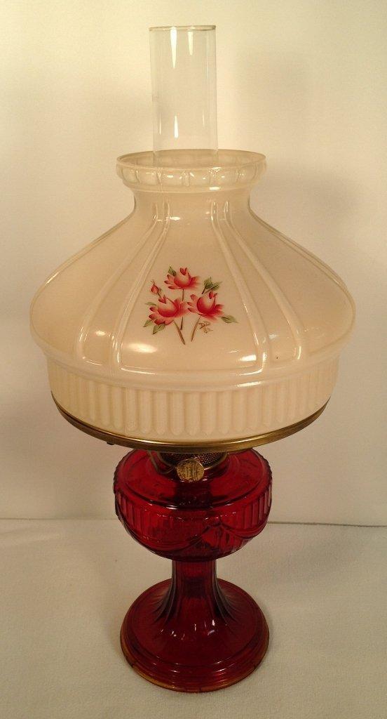 1939 Ruby Red Aladdin Lincoln Drape Oil Lamp