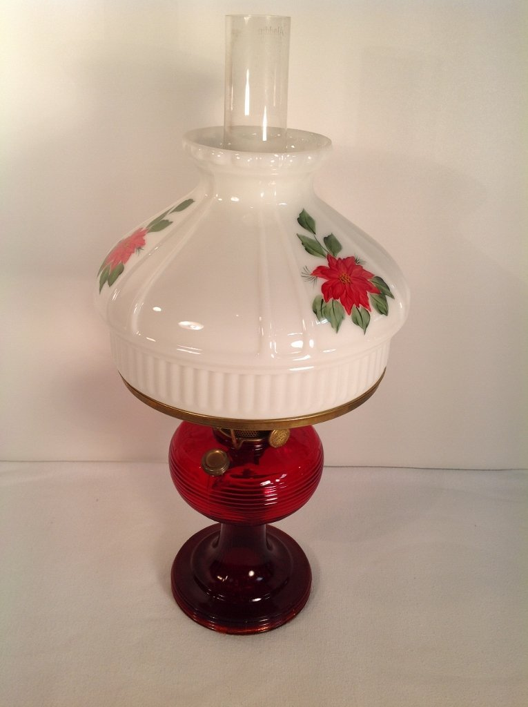 1937/38 Ruby Red Aladdin Beehive Oil Lamp