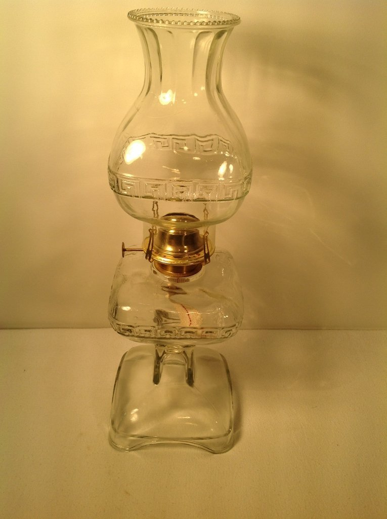 English Made Clear Oil Lamp