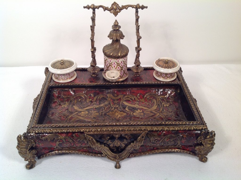 Boulle Marquetry Inkstand
