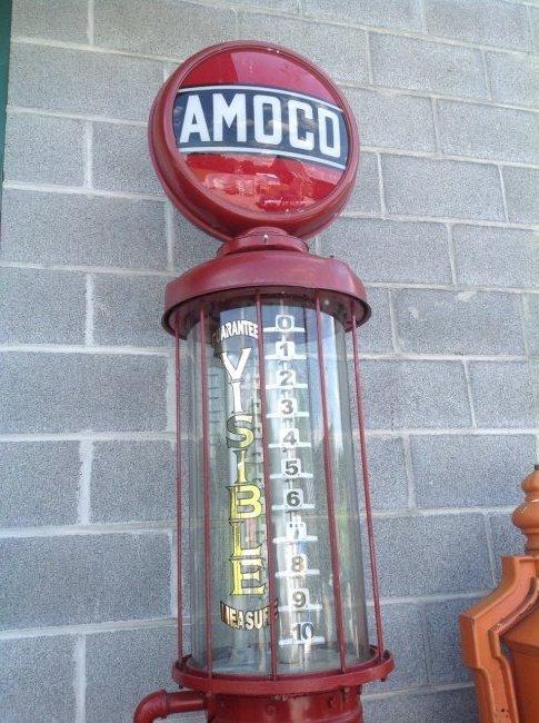 Amoco G13 Gravity Fed Gas Pump - 2