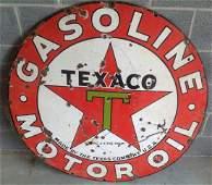 Porcelain Texaco Motor Oil Sign