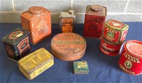 Lot of 10 Vintage Advertising Cans