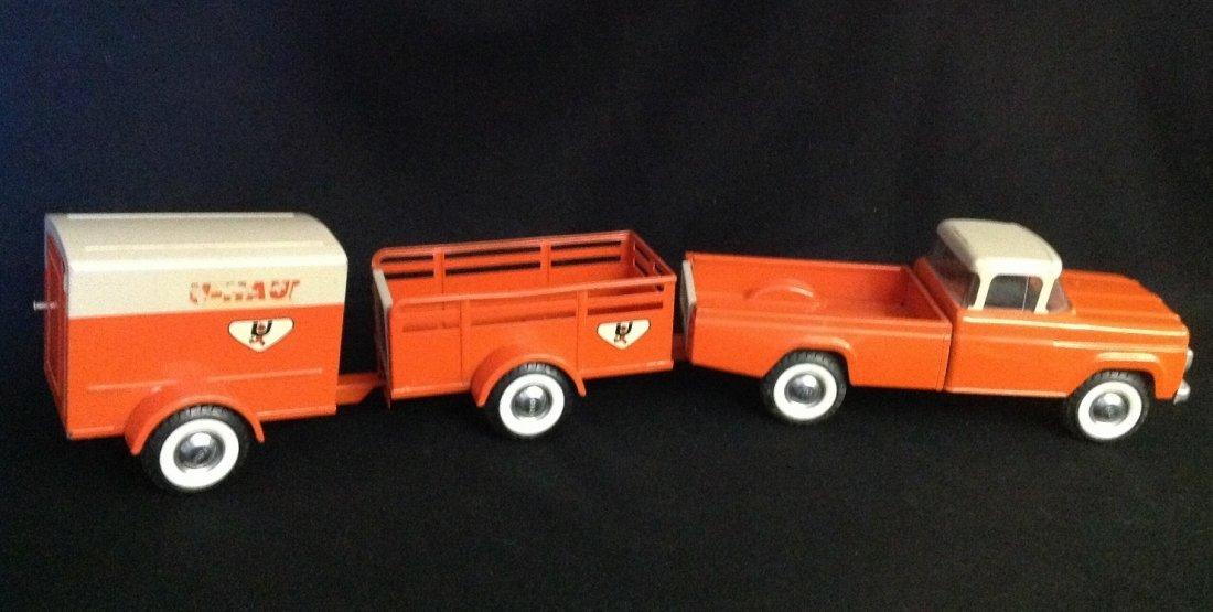 1960's Nylint 3 pc U-Haul Truck Rental Fleet No. 4300 - 2