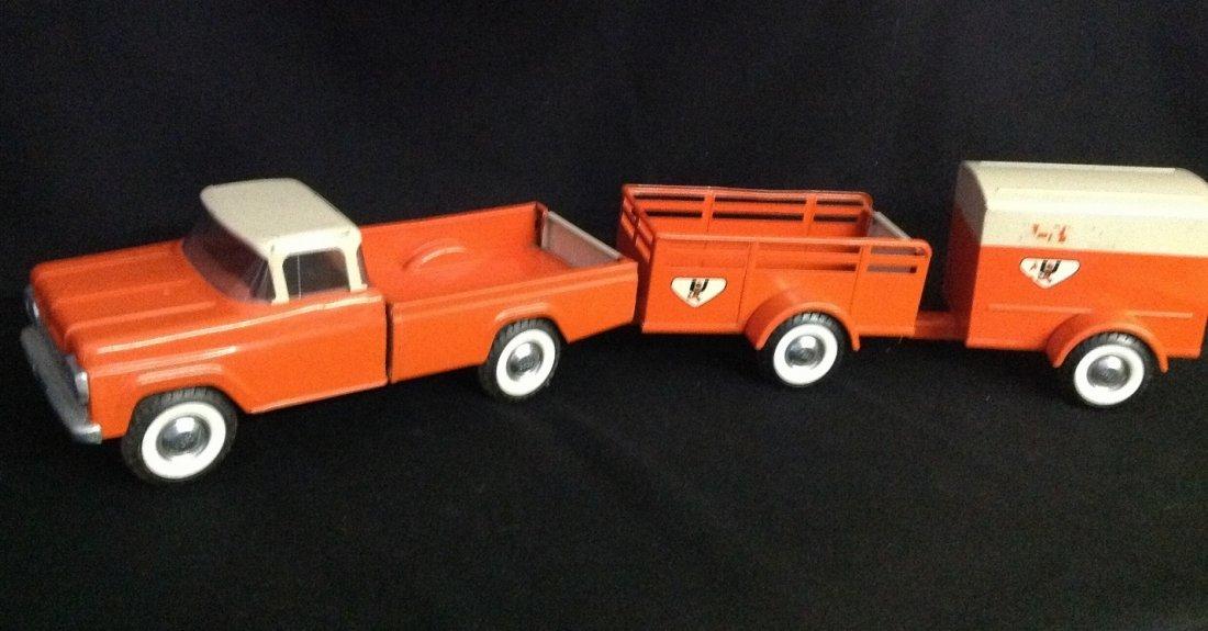 1960's Nylint 3 pc U-Haul Truck Rental Fleet No. 4300 - 3