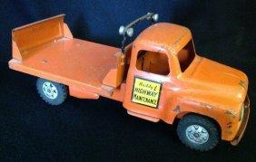 1950's Buddy L Highway Maintenance Flat Bed Truck