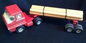 1960's Structo Turbine Log Truck & Trailer