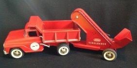 1950's/60's Tonka Hydraulic Dump Truck & Sand Loader