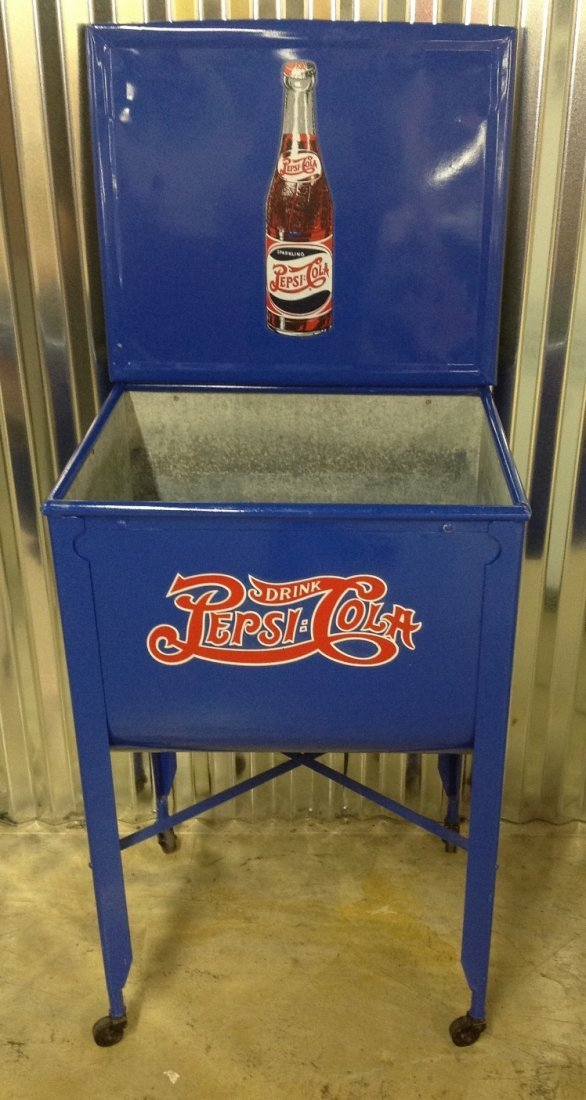 Restored Washtub Converted to Cooler w/Pepsi Decals