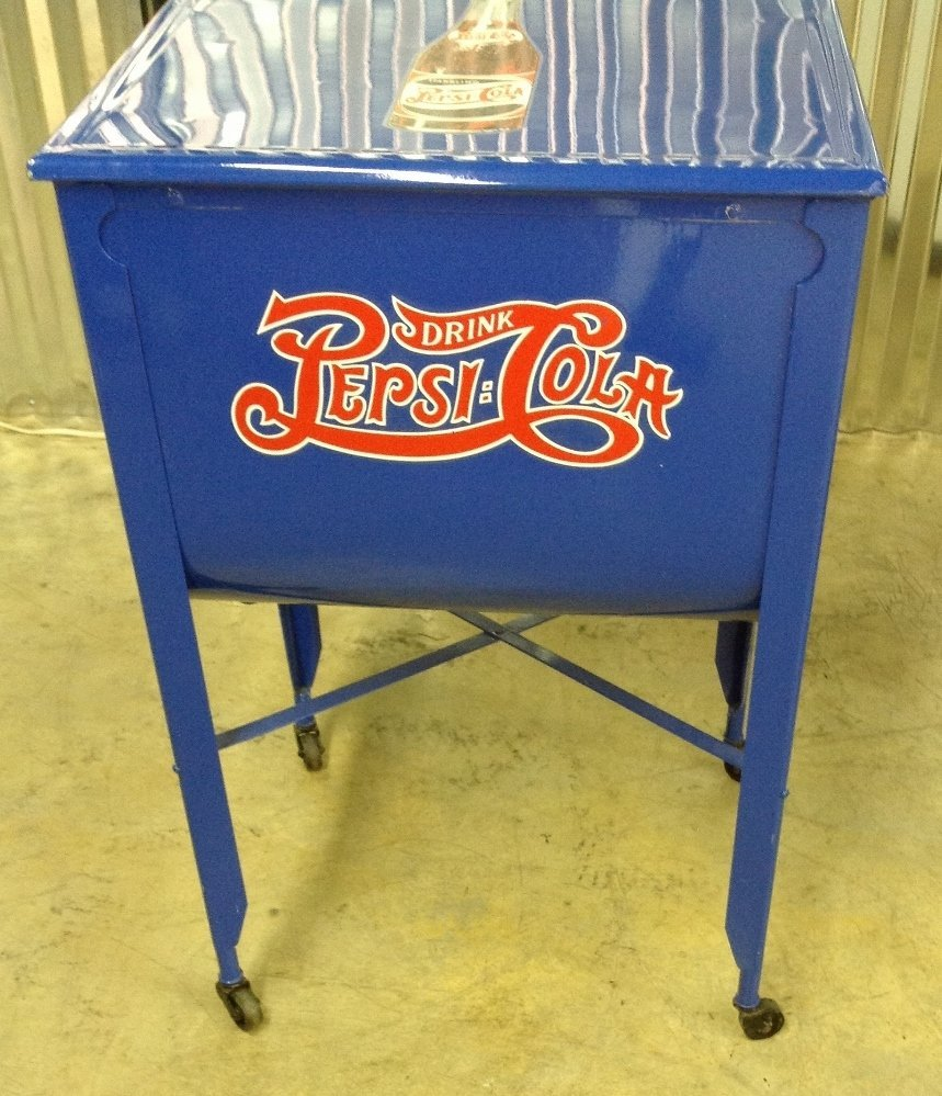Restored Washtub Converted to Cooler w/Pepsi Decals - 2