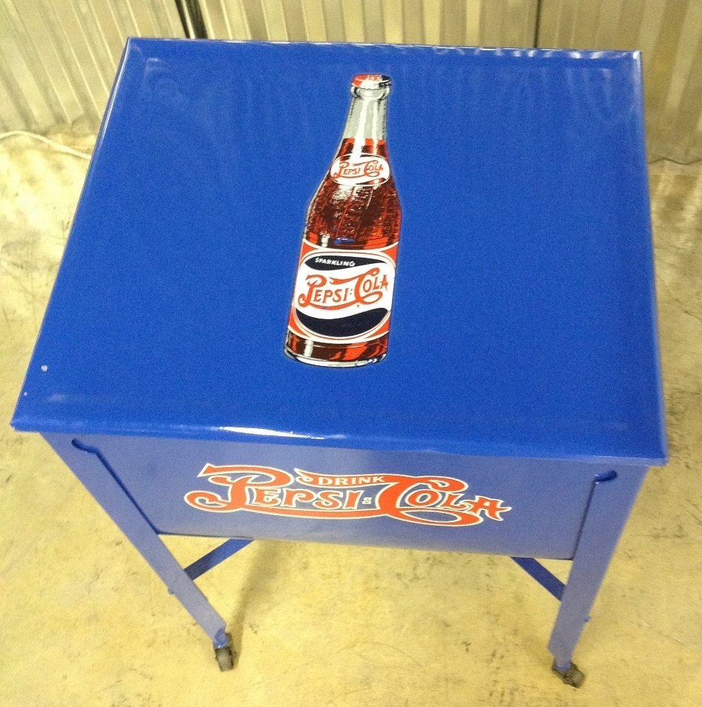 Restored Washtub Converted to Cooler w/Pepsi Decals - 3