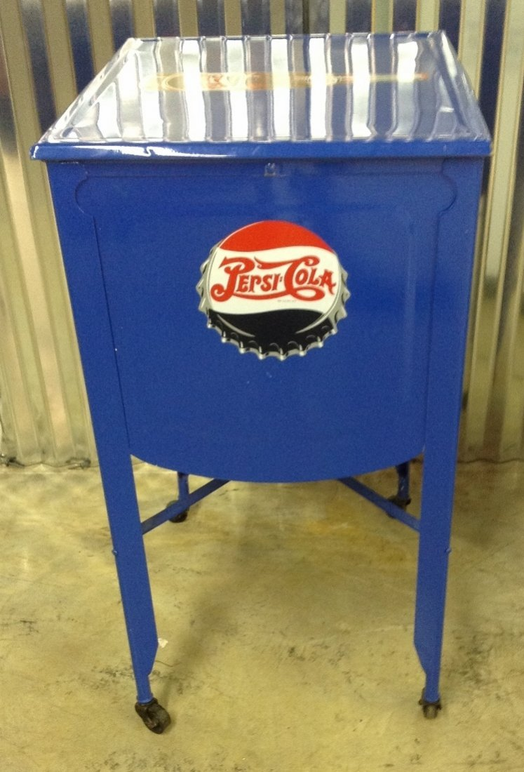 Restored Washtub Converted to Cooler w/Pepsi Decals - 4