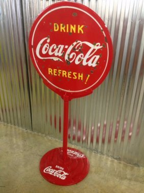 Porcelain Drink Coca-cola Lollipop Sign