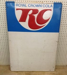 1960's Rc Royal Crown Cola Embossed Store Sign