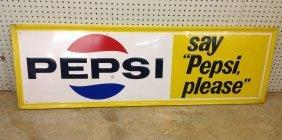 1960's Pepsi Embossed Sign