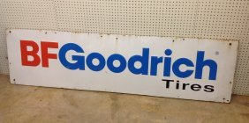 1960's/70's B.f. Goodrich Tires Embossed Sign