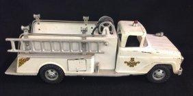Rare 1960's White Tonka Pumper Fire Truck