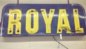 1930's/40's Neon Royal Tires Sign