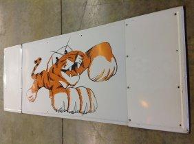 1970's Exxon Tiger Sign