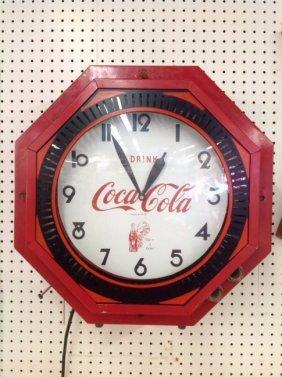 Rare Coca-cola Neon Spinner Clock