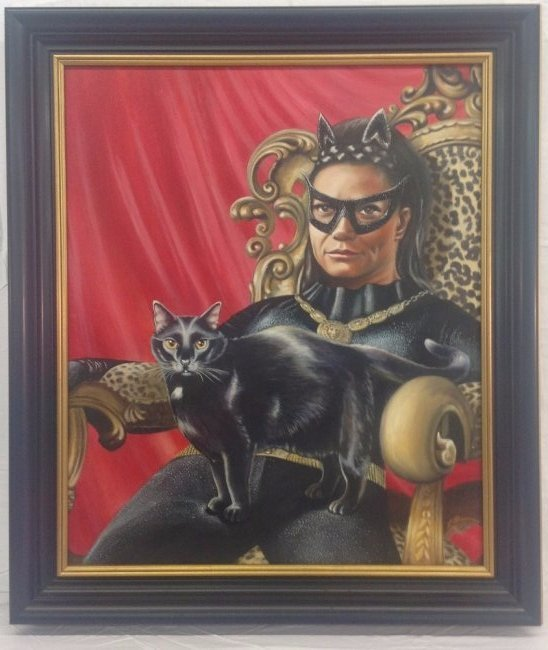 """Eartha Kit as """"Catwoman"""" Painting"""