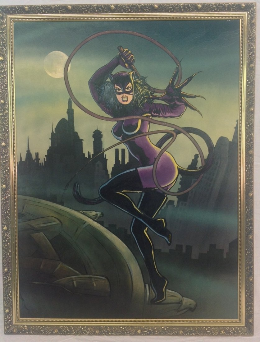 """""""Catwoman on Chrysler Building"""" Painting"""