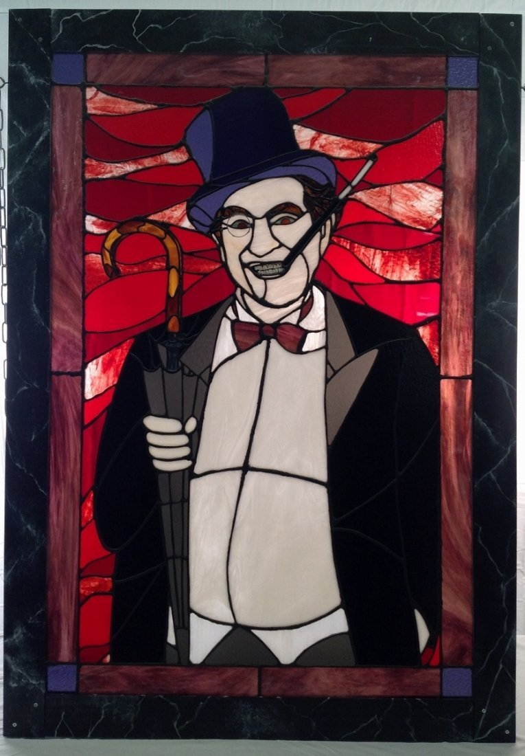 """Burgess Meredith """"Penguin"""" Stained Glass"""