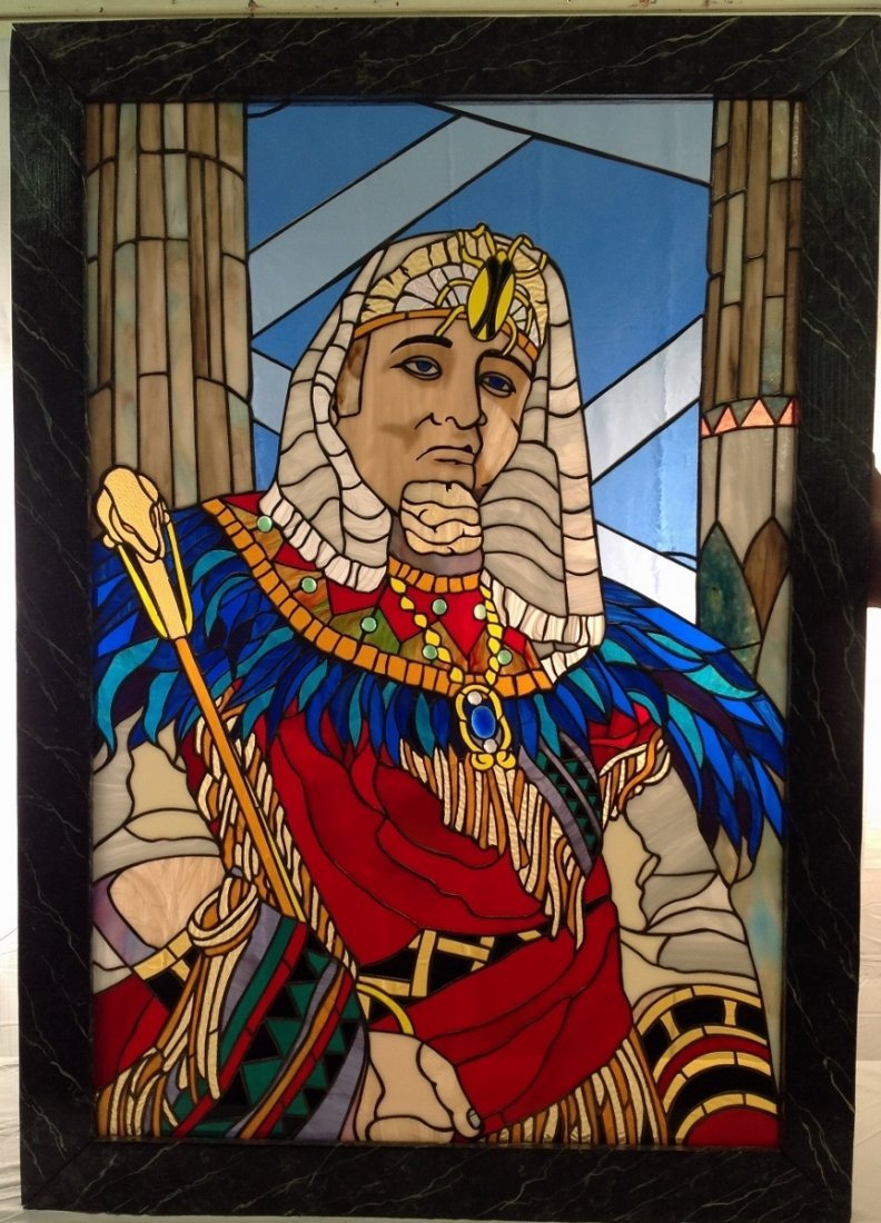 """Victor Buono """"King Tut"""" Stained Glass"""