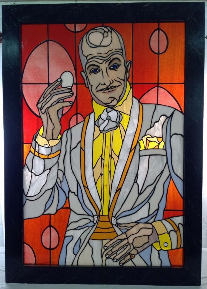 """Vincent Price """"Mr Egghead"""" Stained Glass"""