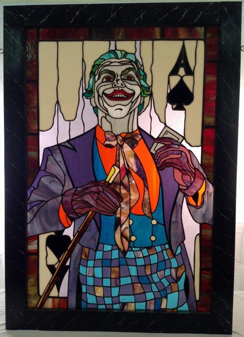 "Jack Nicholson ""Joker"" Stained Glass"