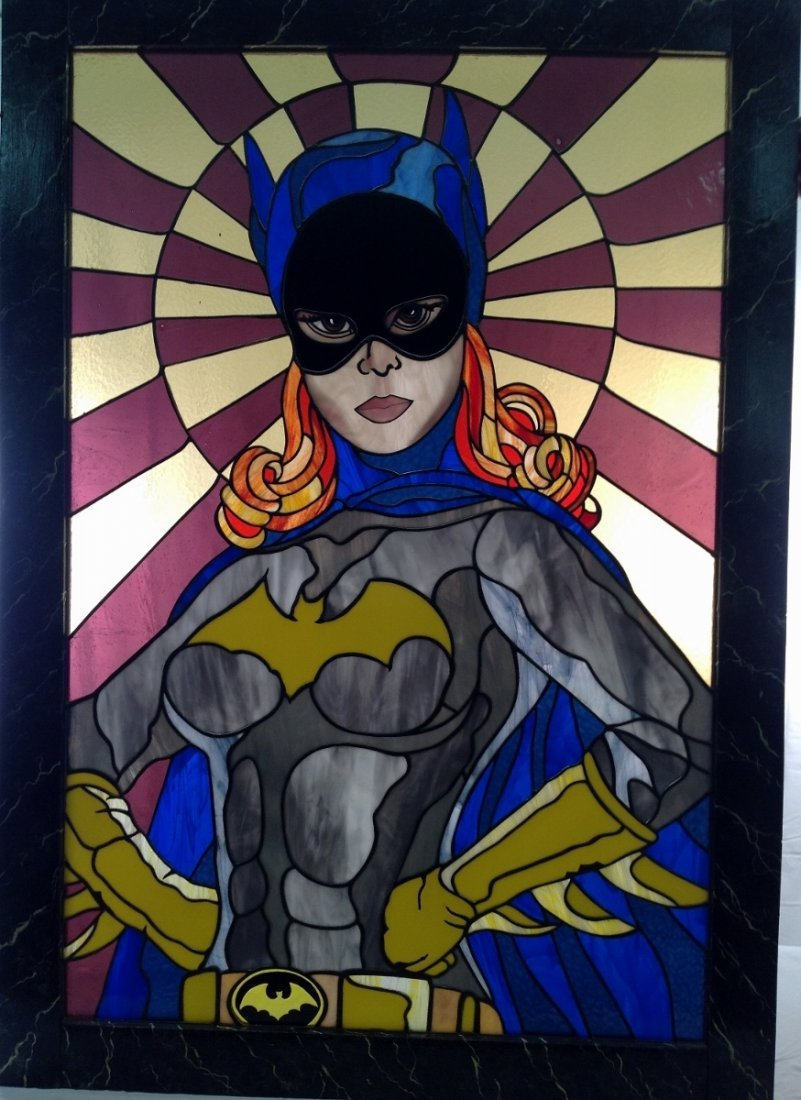 Yvonne Craig as Batgirl Stained Glass