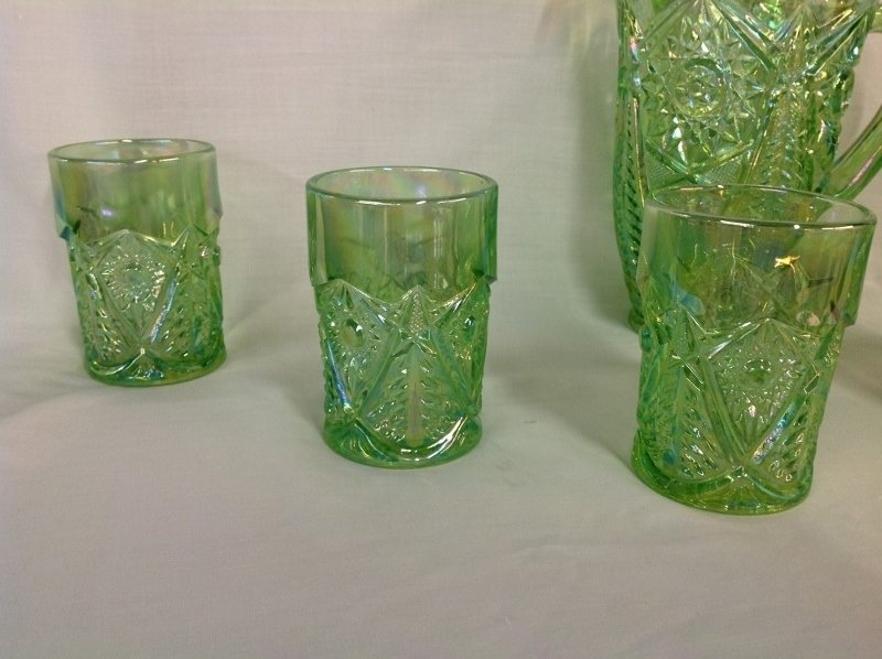 Smith Light Green Wreath and Tree Water Set - 2