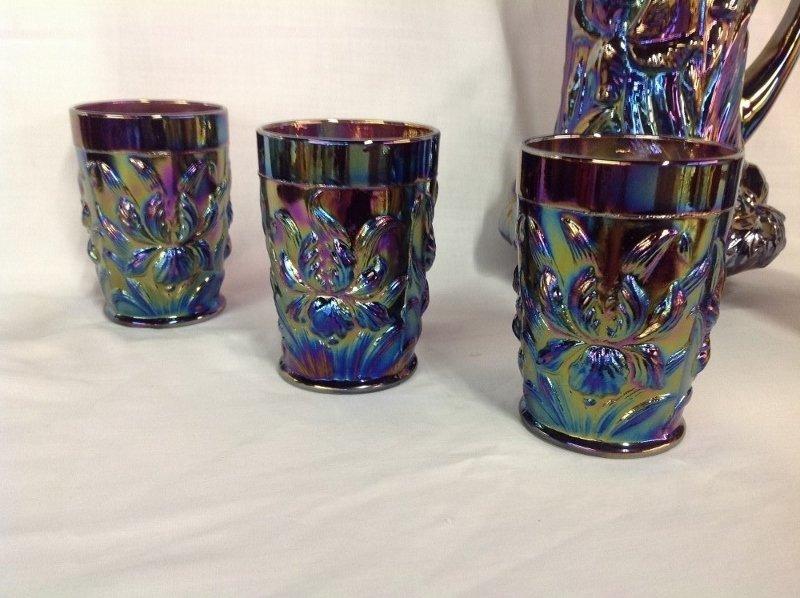 Iris Blue Iridescent Water Set - 2