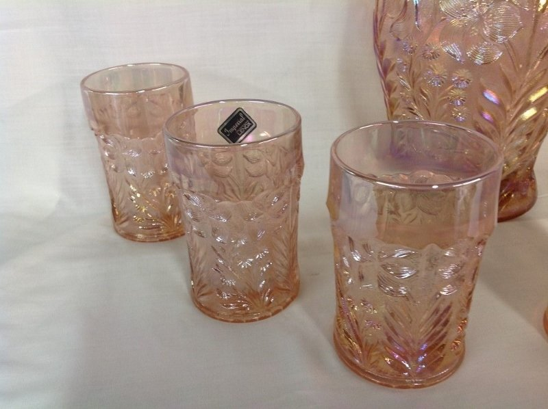 Imperial Glass Pink Dogwood Water Set - 2