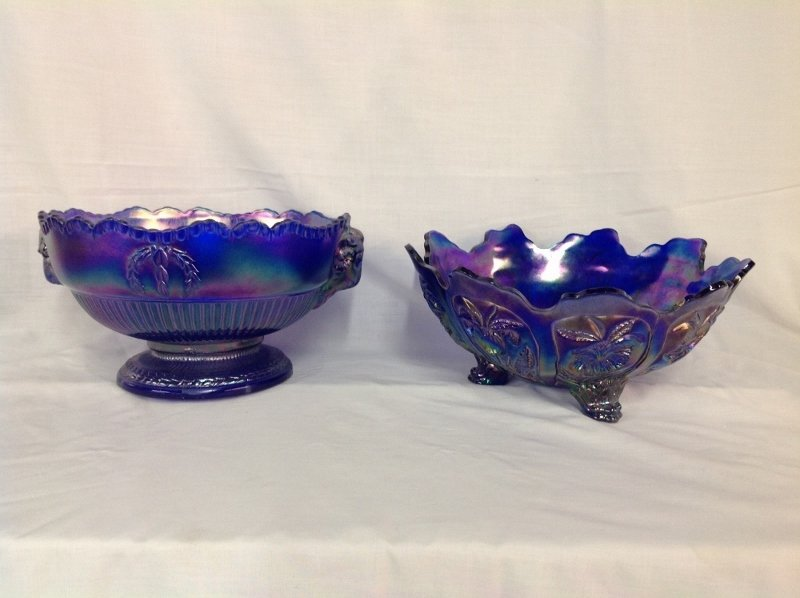 Imperial Glass Rams Head Center Piece Bowl and Footed