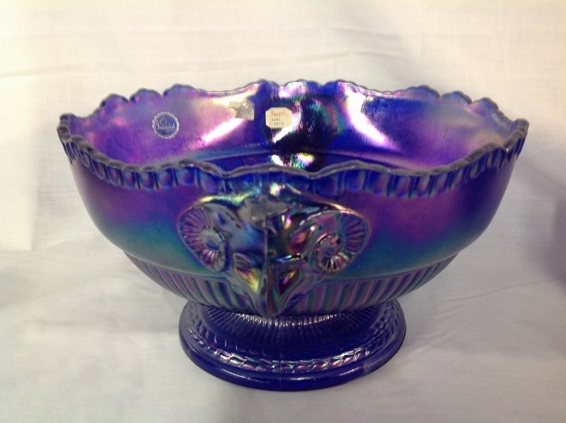 Imperial Glass Rams Head Center Piece Bowl and Footed - 2